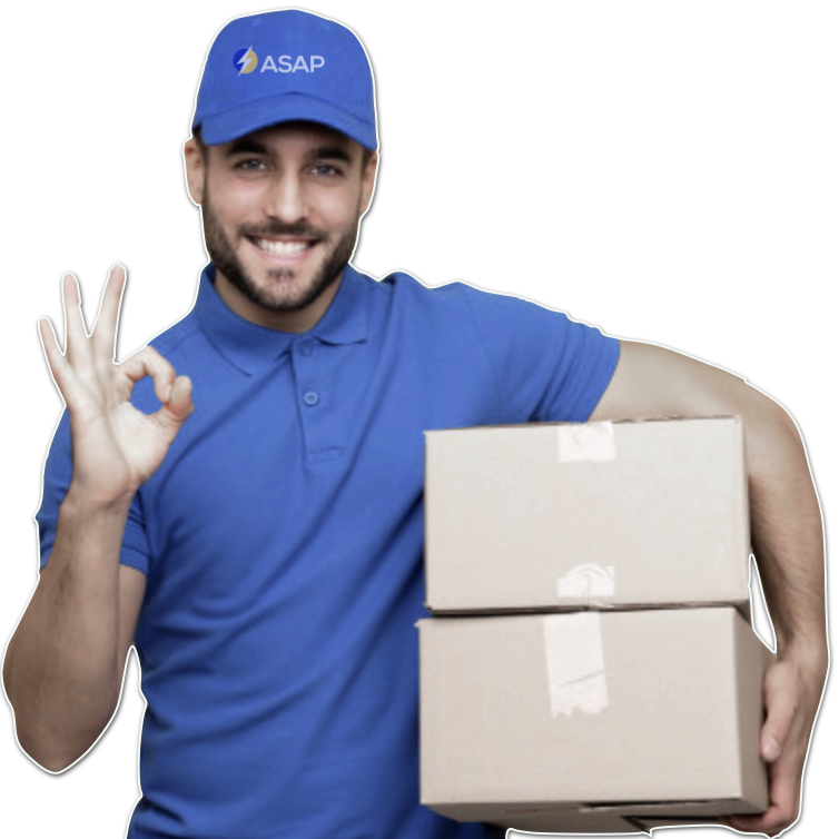 ASAP delivers the best express service at an affordable price. For fast and reliable service, call us and the nearest professional will arrive promptly to solve your delivery problem.