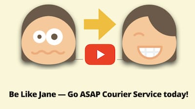 Be like Jane... go asap courier service today!